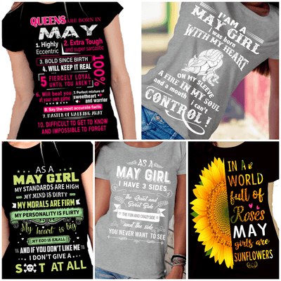 """Get Exclusive Discount On May Combo Pack Of 5 Shirts""(Flat Shipping) For B'day Girls. - LA Shirt Company"