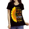 """October Combo (Sunflower And 3 Sides)"" 2 Combo Pack(Flat Shipping) - LA Shirt Company"