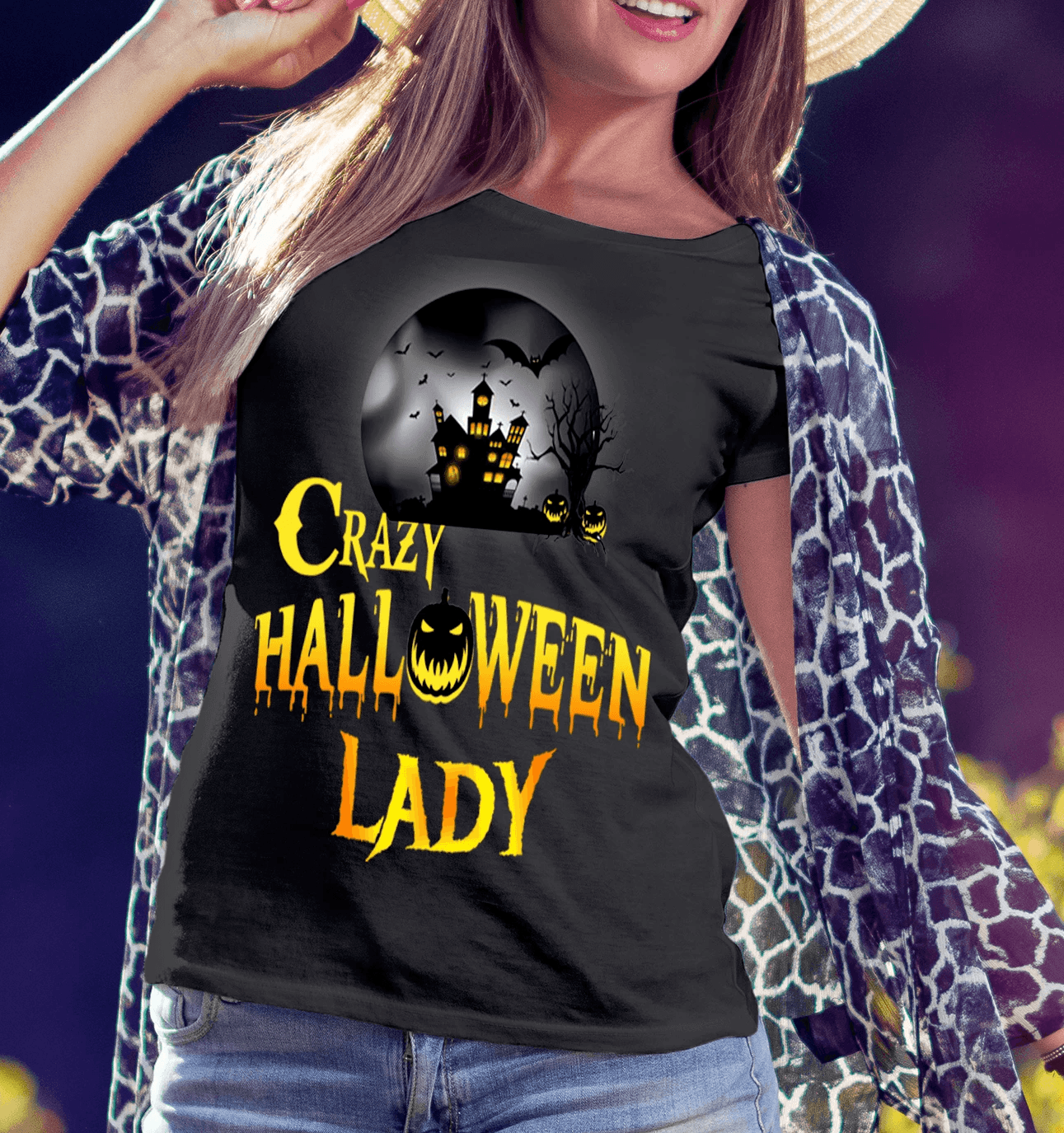 """Crazy Halloween Lady.. "" (50% Off ) Flat Shipping. - LA Shirt Company"