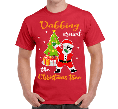 """DABBING AROUND THE CHRISTMAS TREE"" (UNISEX T-SHIRT) - LA Shirt Company"