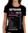 """September Girl Facts"" Personalize Birthday Month Shirt 50% Off for B'day Girls. Flat Shipping - LA Shirt Company"