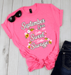 """September Girls Are Sorta Sweet Sorta Savage"",( SHIRT 50% OFF ) FOR WOMAN'S Special Birthday DesignFLAT SHIPPING. - LA Shirt Company"