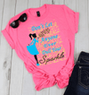 """Don't Let Anyone Ever Dull Your Sparkle"",( SHIRT 50% OFF ) FOR WOMAN'S FLAT SHIPPING. - Pink T-Shirt - LA Shirt Company"