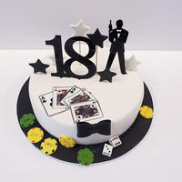 Set 10 cupcake toppers Bond - Tomvalk