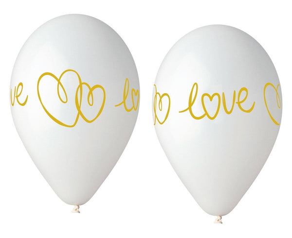 Set 5 baloane latex 33 cm -Love - Tomvalk