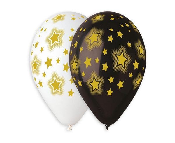 "Set 5 baloane latex 33 cm - ""Shining Stars"" - Tomvalk"