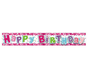 "Banner ""Happy Birthday "" roz - 1,8 m"