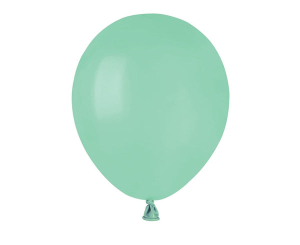 Set 100 baloane latex 13 cm - verde menta - Tomvalk