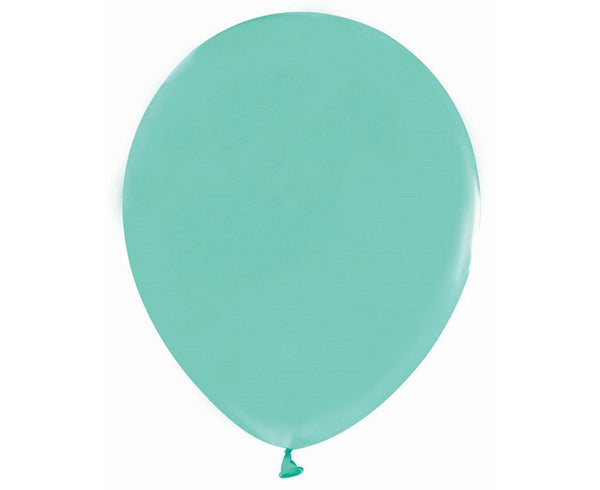 Set 100 baloane latex 25 cm - verde menta - Tomvalk
