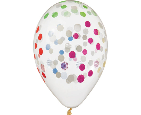 "Set 5 baloane latex 33 cm - ""Colourful Confetti"" - Tomvalk"