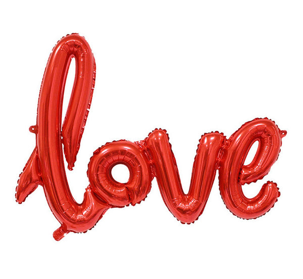 "Balon folie 66cm - Set litere ""Love"", rosu - Tomvalk"