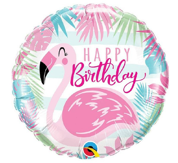 "Balon folie 46 cm - Rotund ""Happy Birthday"" - Tomvalk"
