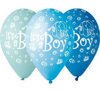 "Set 5 baloane latex 30 cm - ""It's a boy"" - Tomvalk"