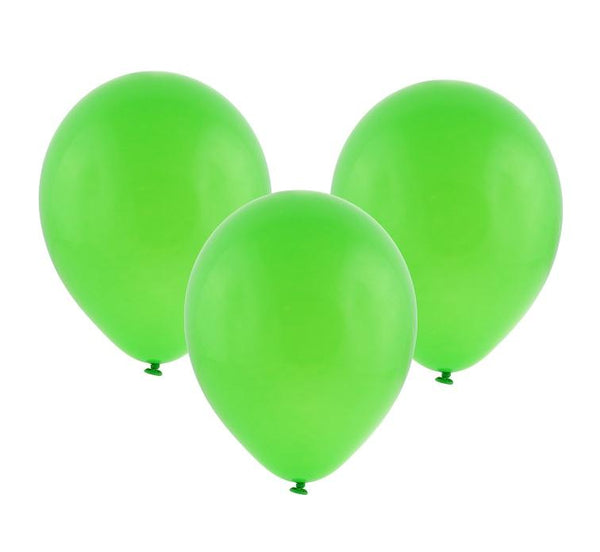 Set 100 baloane latex 30 cm - verde - Tomvalk