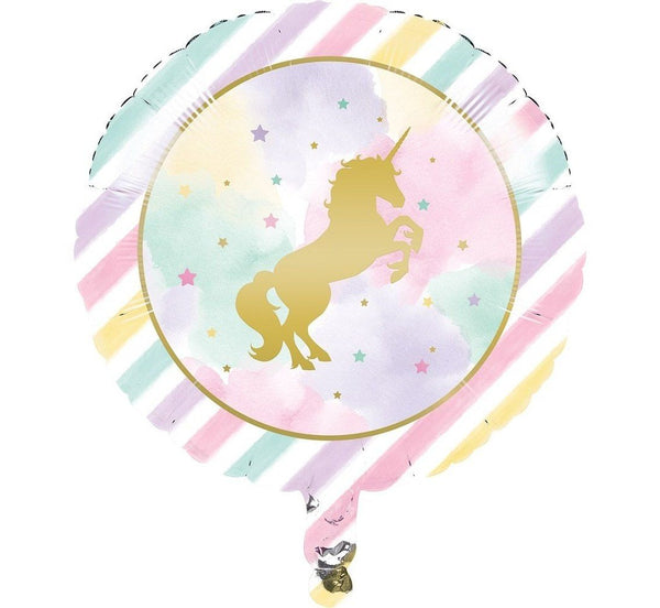 Balon folie 45 cm - Rotund Unicorn - Tomvalk