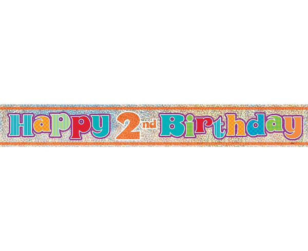 "Banner ""Happy 2nd Birthday""-  98 cm - Tomvalk"