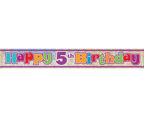 "Banner ""Happy 5th Birthday""-  98 cm - Tomvalk"