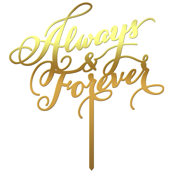 "Topper tort ""Always&Forever"" - Tomvalk"