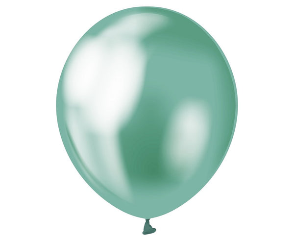 Set 7 baloane latex 30 cm - Verde Platinat - Tomvalk