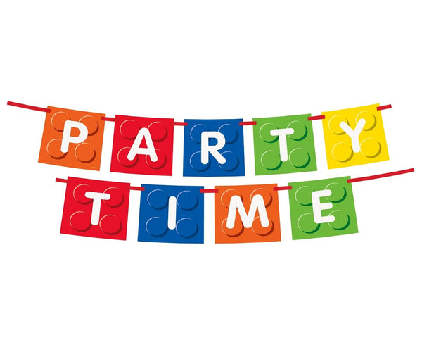 "Banner ""PARTY TIME"" LEGO-  182 cm - Tomvalk"