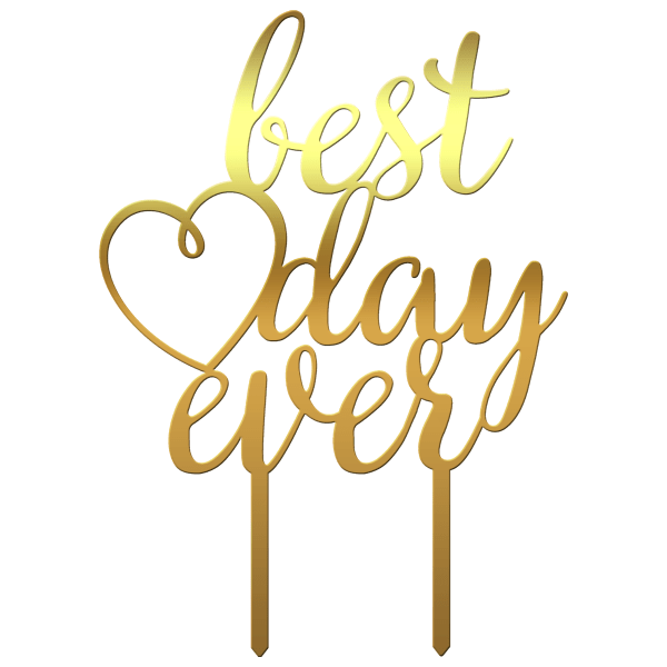 "Topper tort  ""Best Day Ever"" VI - Tomvalk"