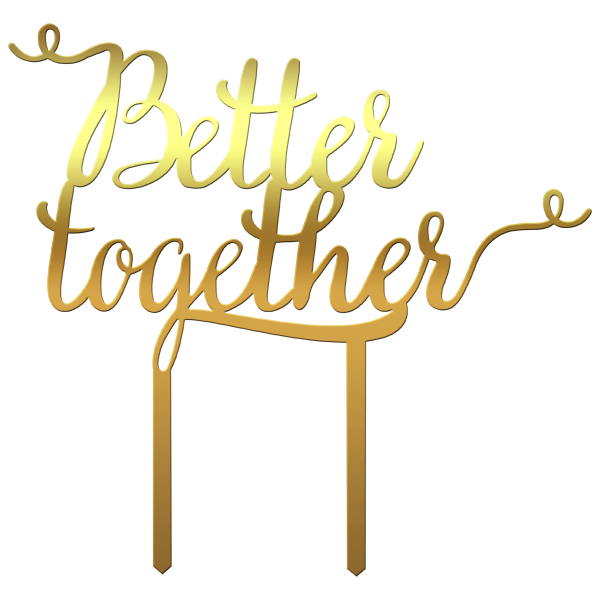 "Topper tort ""Better together"" - Tomvalk"