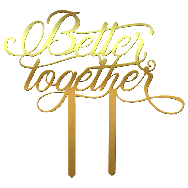 "Topper tort ""Better together"" III - Tomvalk"
