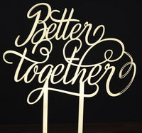 "Topper tort ""Better together"" II - Tomvalk"
