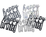 Confetti Happy birthday - negru mix - 142 g - Tomvalk