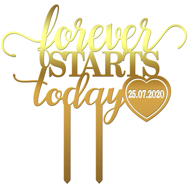 "Topper ""Forever Starts Today"" - Tomvalk"