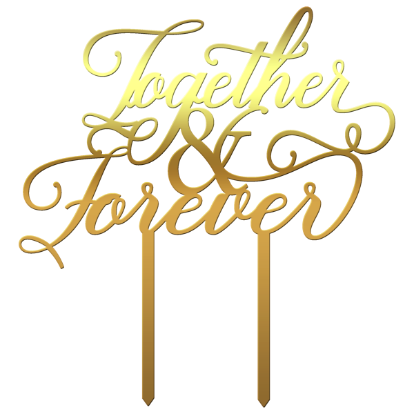 "Topper tort ""Together&Forever"" - Tomvalk"
