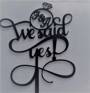 "Topper tort ""We said yes"""