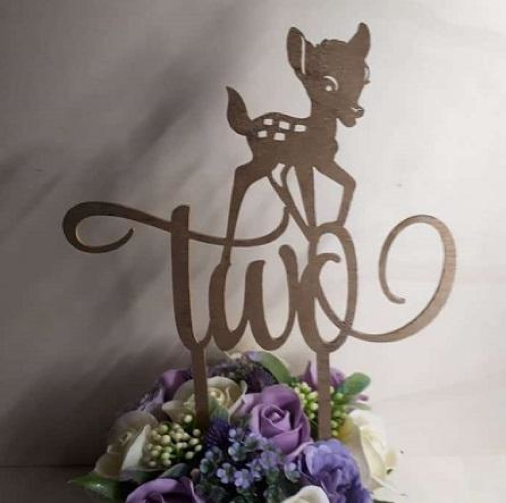 "Topper tort ""Two"" Bambi - Tomvalk"