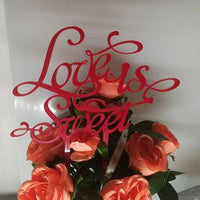 "Topper tort ""Love Is Sweet"" I - Tomvalk"