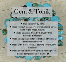 Load image into Gallery viewer, Morenci Turquoise Triple Stone Pendant - Gem & Tonik