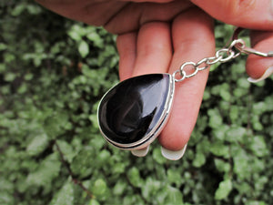 Black Agate Keychain - Gem & Tonik