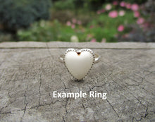 Load image into Gallery viewer, Custom Magnesite Heart Ring - Made to Order - Gem & Tonik