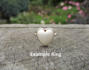 Custom Magnesite Heart Ring - Made to Order - Gem & Tonik