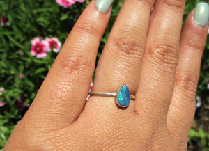 Custom Blue Australian Opal Ring - Made to Order - Gem & Tonik