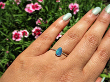 Load image into Gallery viewer, Custom Blue Australian Opal Ring - Made to Order - Gem & Tonik