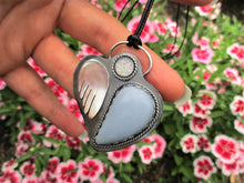 Load image into Gallery viewer, The Light Guardian - Angelite & Angel Aura Quartz Pendant - Sterling Silver - Gem & Tonik