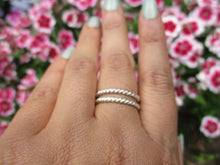 Load image into Gallery viewer, 2 x Twist Band Stacking Rings - Sterling Silver - Made to Order - Gem & Tonik