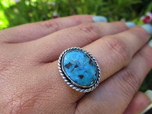 Load image into Gallery viewer, Kingman Turquoise Ring - Size 8 - Sterling Silver - Gem & Tonik