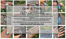 Load image into Gallery viewer, Gem & Tonik Gift Voucher - GemAndTonik Gift Certificate - Gem and Tonik - Gem & Tonik