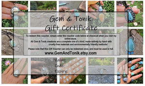 Gem & Tonik Gift Voucher - GemAndTonik Gift Certificate - Gem and Tonik - Gem & Tonik