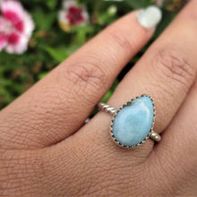 Load image into Gallery viewer, Pear Shaped Larimar Ring - Size 6 1/2 - Gem & Tonik