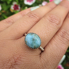 Load image into Gallery viewer, Larimar Ring - Size 8 1/4 - Sterling Silver - Gem & Tonik