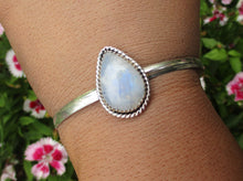 Load image into Gallery viewer, Moonstone Cuff Bracelet - Gem & Tonik