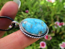 Load image into Gallery viewer, Turquoise Mountain Turquoise Pendant - Sterling Silver - Gem & Tonik
