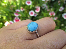 Load image into Gallery viewer, Blue Morenci Turquoise Ring - Size 6 - Sterling Silver - Gem & Tonik